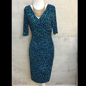 Ralph Lauren Peacock Short Sleeve Jersey Dress 6